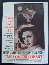 My Foolish Heart (1949) - Dana Andrews | Vintage Trade Ad